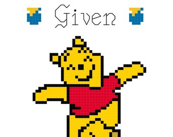 No Bothers Given Winnie the Pooh Cross Stitch Pattern