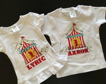 Custom Circus Birthday Shirt