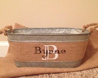 Personalized burlap ribbon