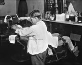 "Vintage ""KID BARBER"" - Professional Reprint Photograph - avail. in sizes 8x10 / 11x14 / 16x20 - Barber Shop Barbershop Razor Shave Picture"