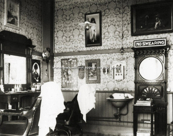Barber Shop Johnson City Tn : Vintage BARBER SHOP - Johnson City, Tennessee - Professional Reprint ...