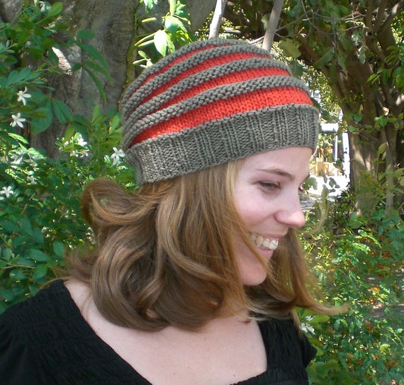 Slouchy knit beanie pattern for men and women - easy ...