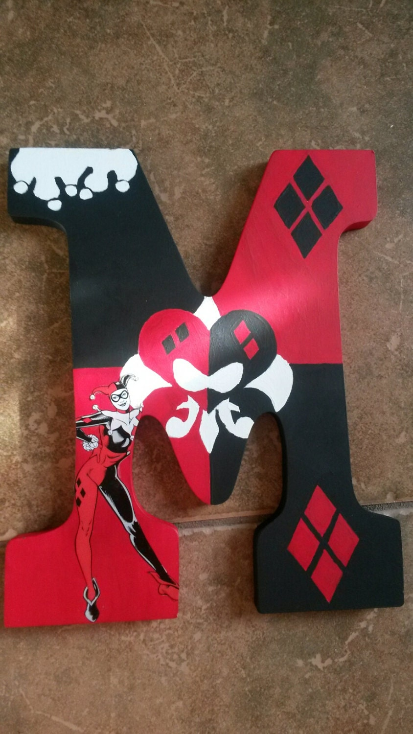 Harley quinn customized letter for Harley quinn bedroom ideas