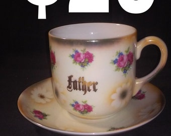 Father tea cup and saucer