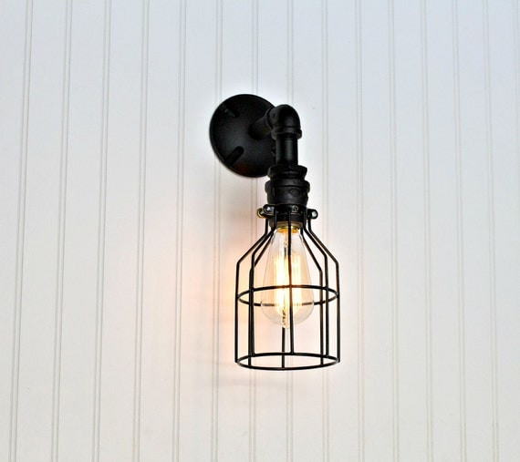 Black industrial wall sconce id lights black industrial wall sconce wall lights sconces restaurant bar aloadofball Images