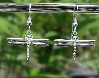 "Dragonfly Earrings - Sterling Silver ""French Wires""  - Item: D2"