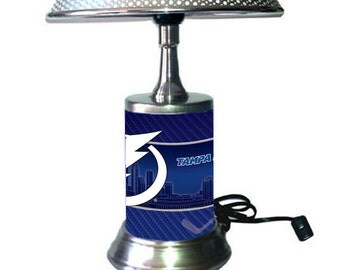 Tampa BayLightning Lamp with chrome shade