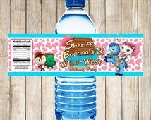 Sheriff Callie Water Bottle Labels