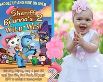 Sheriff Callie Invitation, Sheriff Callie Birthday, Sheriff Callie Party