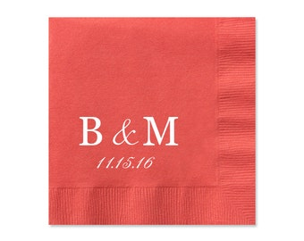 Initials Personalized Wedding Napkins