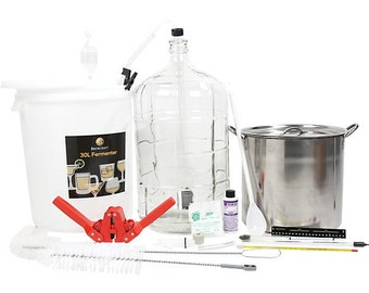 Brewcraft Deluxe Homebrew Equipment Starter Kit ‑ Make Your Own Beer