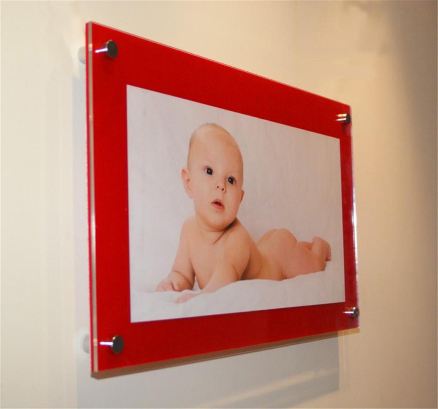 Cheshire acrylic chilli red 10mm picture wall mount frame for 8 x gallery photo gallery photo gallery photo jeuxipadfo Gallery