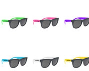 250 Custom Sunglasses Party, Wedding, Event, Club, School, Fundraiser.