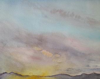 Original Watercolor- Quietud