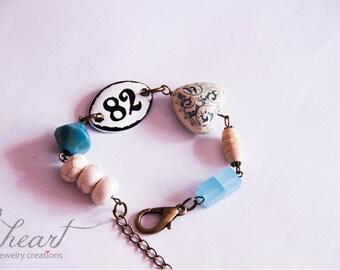Eclectic beaded bracelet