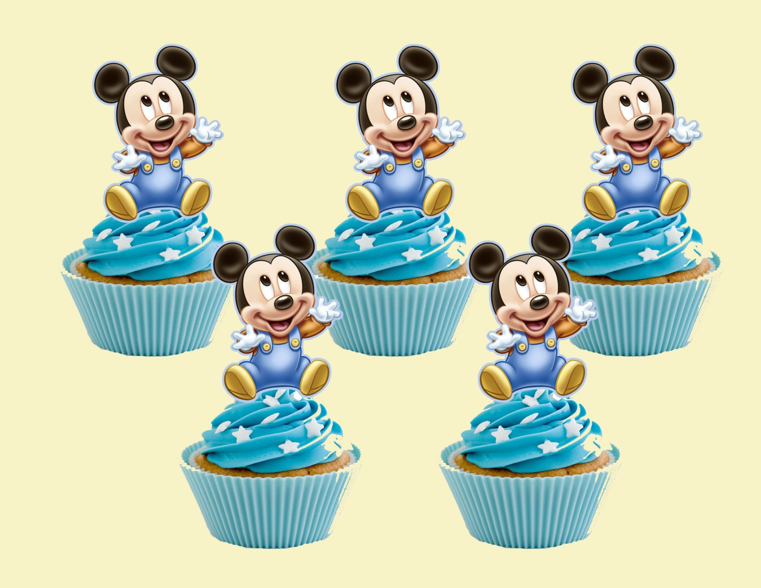 Baby Mickey Mouse Cupcake Topper Cupcake Picks DIGITAL FILEMickey Mouse Cupcake Toppers