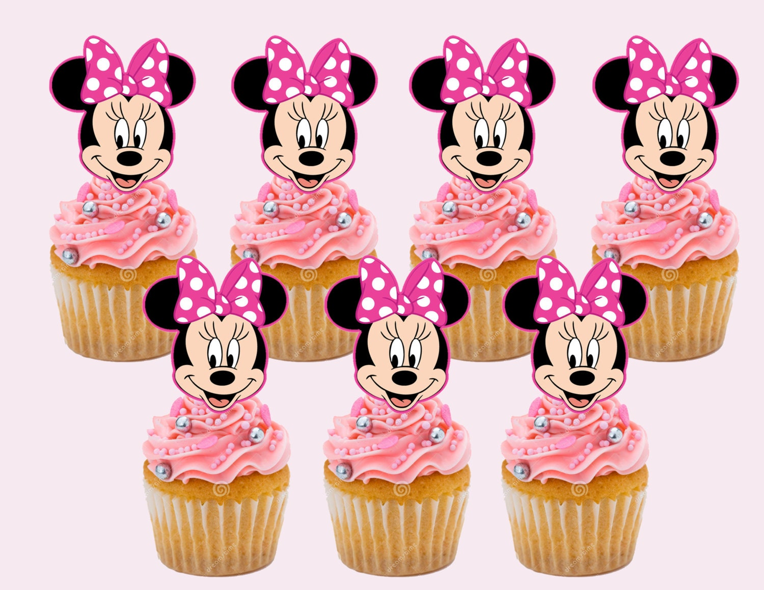 Minnie Mouse Cupcake Toppers Cupcake Picks INSTANT DOWNLOAD