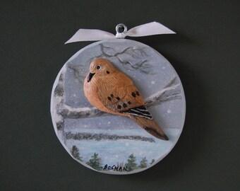 Mourning Dove in Door County ornament