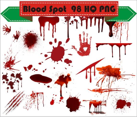 blood spots open wound clipart png set digital files