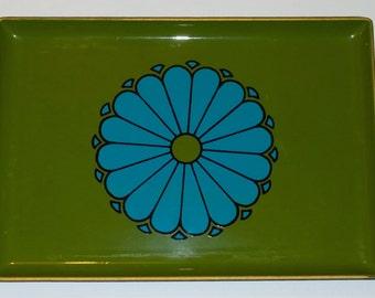 "Small Mid-Century Japanese Lacquerware Serving Tray ""CTO JAPAN"""
