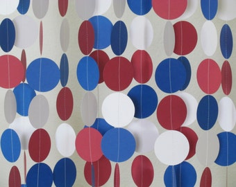 2 In. Red, White & Blue Garland