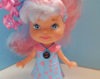 Mattel 1995 Doll with Pink and Blue Glitter Hair