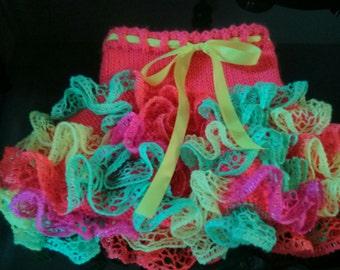 Ruffled skirt knitted