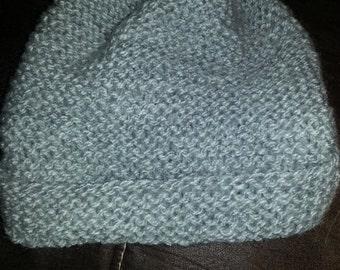 Silver Heather Knit Hat