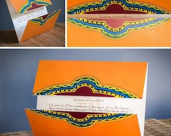 Invitation de mariage modèle Makeda