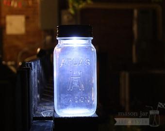 5 Mason Jar Solar LED Light Lids | For Regular Mouth Mason / Ball Jars | Weatherproof | Water proof | Weddings | Camping | Patio | Decor