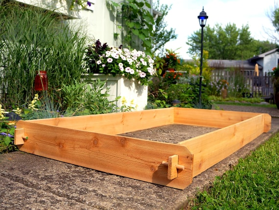 Cedar RAISED GARDEN BED 3x6 Cedar Raised Planter Ve able Bed