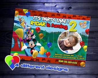 mickey mouse birthday invitaiton