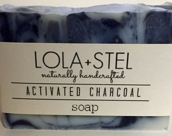 Activated Charcoal All Natural Soap, Vegan Soap, Handmade Soap, Cold Process Soap