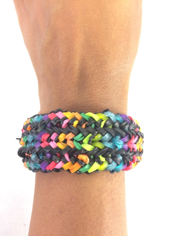 advanced snake belly multicolored bracelet made out of rainbow