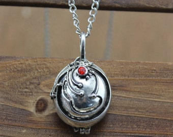 The Vampire Diaries jewelry herba verbenae locket antique necklace vintage style gift idea Christmas jewelry C477L_S