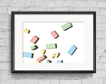 """Colorful Lego Candy digital photography print / Instant download, """"Legoland"""", Fun home decor, wall art, blog photo, Blue, Red, Yellow, Green"""