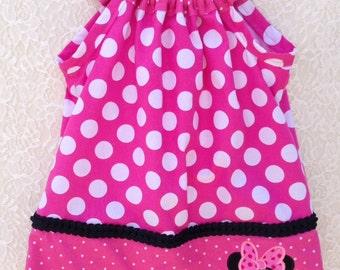 Minnie Pillowcase Dress, Red Pillowcase Dress, Pink Pillowcase Dress, Girls Dress, Toddler Dress, Disney Dress