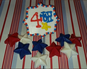 July 4th Plaque Cookies