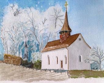 Gallus Kapelle in Winter.