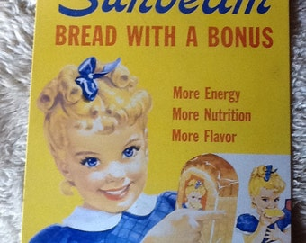 Vintage Sunbeam Bakery Sign. 1980's.