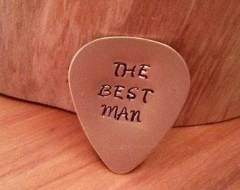 Best man gift, best man, wedding favour, personalised plectrum, anniversary gift, custom guitar pick, Music, Guitar, wedding favor, for him