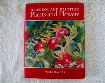 Drawing And Painting Plants And Flowers By Polly Raynes, art book, supplies, textbook, patterns, projects, workbook, art instruction