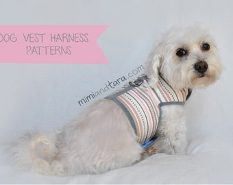 Dog Harness Pattern size XL, Vest Harness, Sewing Pattern, Dog Clothes Pattern