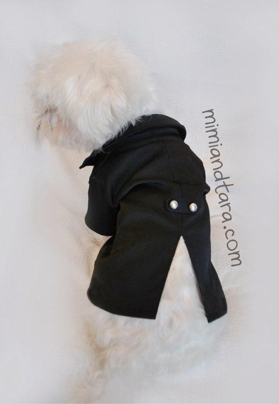 Dog Tuxedo Knitting Pattern : Dog Tuxedo Jacket Pattern size S, Sewing Pattern, Dog ...