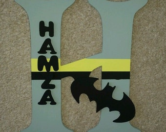 Handmade Batman Themed 3D Character Personalised Wall / Door Plaque Custom Made
