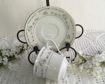 Vintage fine China Tea cup and saucer, tea party dishes, cottage chic tea cup and saucer