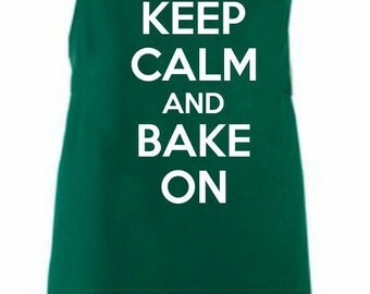 Keep Calm And Bake On Adult Novelty Apron - Various Colours Available.