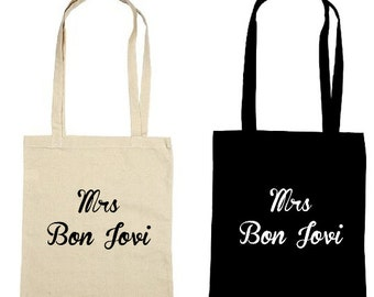 Mrs Bon Jovi - Jon Bon Jovi Fan - Bon Jovi Lightweight Tote Bag