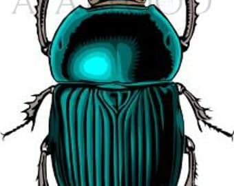 Beetle Temporary Tattoo