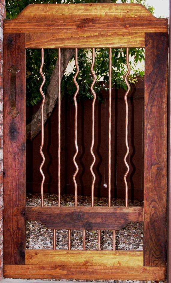 Rustic Wood Amp Wrought Iron Courtyard Gate Garden Gate